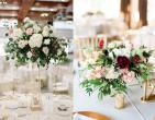 Những mẫu hoa hồng trang trí bàn tiệc đẹp mắt