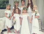 Bí quyết chọn váy cưới mang phong cách Hoàng gia cho phụ dâu nhí