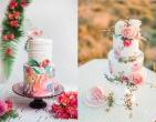 Xu hướng bánh cưới vẽ tay họa tiết hoa cỏ thiên nhiên thu hút