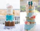 Bánh cưới chủ đề xanh dương giải nhiệt ngày hè