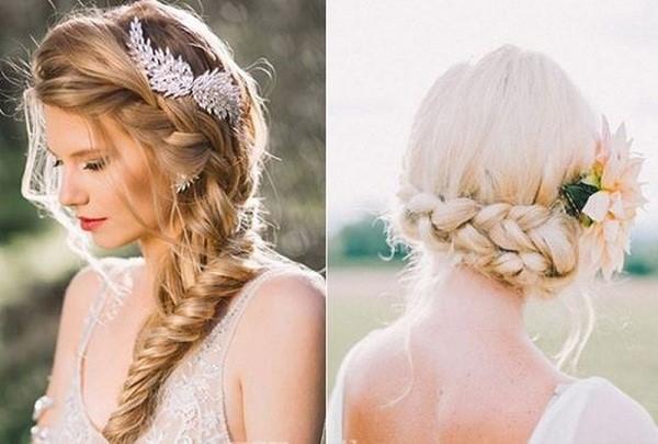Tham khảo những kiểu tóc đơn giản mà đẹp cho cô dâu