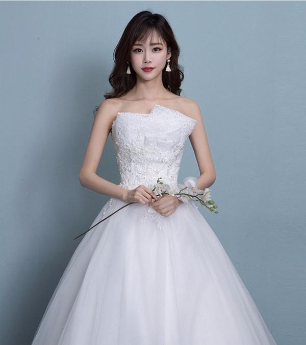 Đắm đuối với 4 mẫu váy cưới cúp ngực đẹp ngất ngây