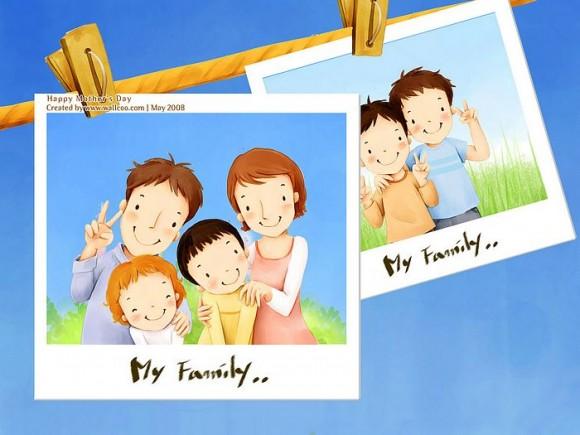 Kỷ niệm cưới không chỉ của bố mẹ mà của cả gia đình