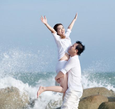 Phim ngoại cảnh Hồ Cốc anh chị  Phương và Vân
