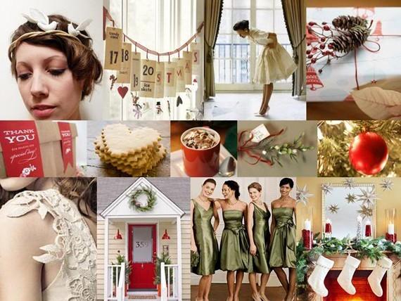 Mang không khí Giáng sinh vào ngày cưới