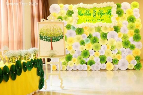 Sắc vàng rực rỡ cho tiệc cưới mùa xuân