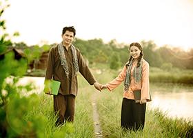Để album ảnh cưới mang vẻ đẹp của đám cưới miệt vườn