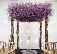Tham khảo cổng hoa cưới màu tím lãng mạn
