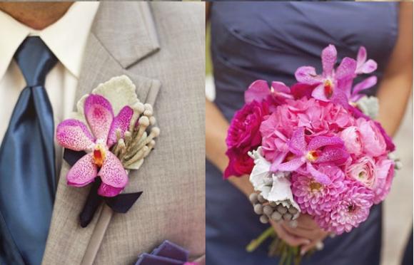 Hoa cưới cài áo ấn tượng cho chú rể