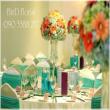Trang trí hoa cho bàn tiệc trong ngày cưới