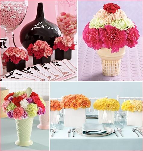 Hoa cẩm chướng lãng mạn và hiện đại cho ngày cưới