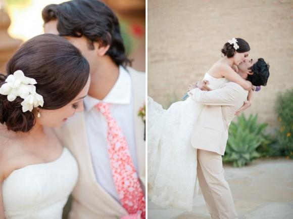 Tóc cho ngày cưới tuyệt đẹp với hoa tươi