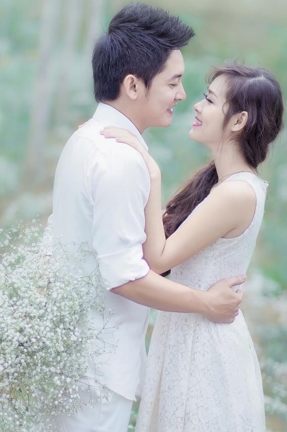 Hoa baby trắng tô điểm cho bức ảnh cưới