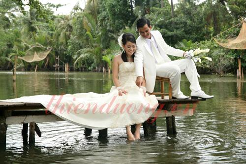 Chụp ảnh cưới ở khu du lịch Bình Quới - Văn Thánh