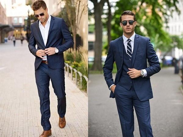 Vest xanh navy phối được với nhiều màu giày